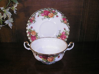Royal Albert OLD COUNTRY ROSES SOUP CUPS and SAUCERS