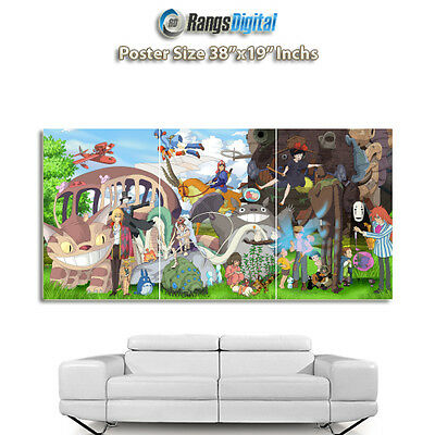 "Studio Ghibli Characters HD Photo Poster RD-9036 (38""x19"" Inches)"
