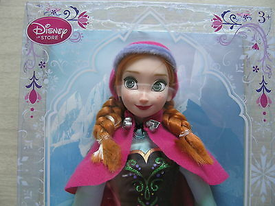 """Disney Store Frozen Anna with cloak classic collection Doll authentic 12"""" tall"""