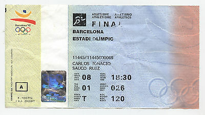 Orig.Ticket    Olympic Games BARCELONA 1992  -  ATHLETICS  08.08. / 9 Final`s !!
