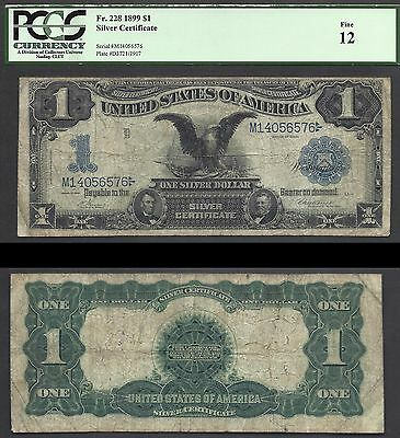 $1 1899 SILVER==BLACK EAGLE==ICONIC==Fr. 228==RETAIL TO $195==PCGS Fine 12