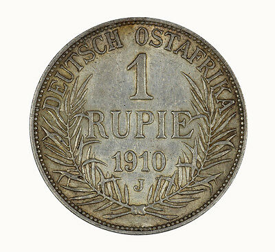 German East Africa 1910 Rupie Coin good EF