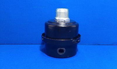 Air Compressor Intake Filter Silencer 1/2 Inch NPT Metal Housing Paper Element