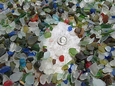 1/4-1/2 Inch One Pound Machine Made Recycled Tumbled Beach Sea Glass Decoration