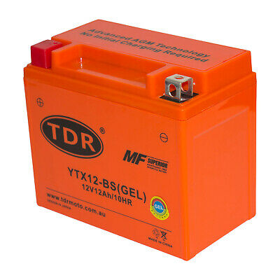 YTX12-BS 12v 12Ah Motorbike/Motorcycle Scooter GEL Battery ATV Quad Pit Bike