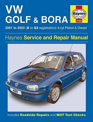 Haynes Service & Repair Manual Vw Golf & Bora 2001-2003 (X To 53) 4 Cyl 4169