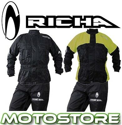 Richa Rain Warrior 2Pc Over Suit Waterproof Motorcycle Rain Overall Hi-Vis
