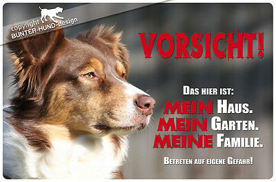 ! AUSTRALIAN SHEPHERD ! Metall Warnschild .02