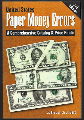 FREE BOOK==U.S. PAPER MONEY ERRORS==third edition==NEW COPY==FRED BART