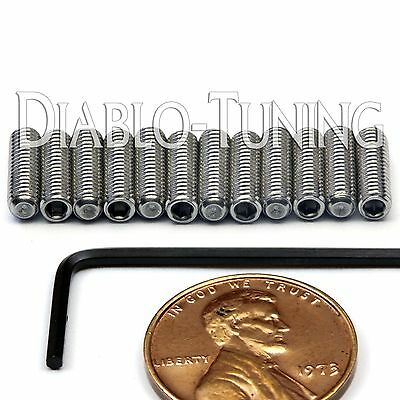 M3 x 10mm Stainless Steel Saddle Height Screws 12 & Hex  Fender MIM Stratocaster