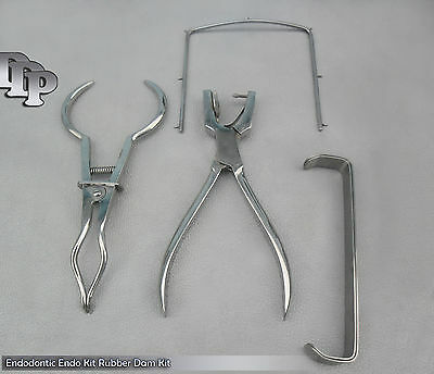 Endodontic Endo Kit Rubber Dam Kit Ainsworth Punch Pliers Brewer Frames DN-2135