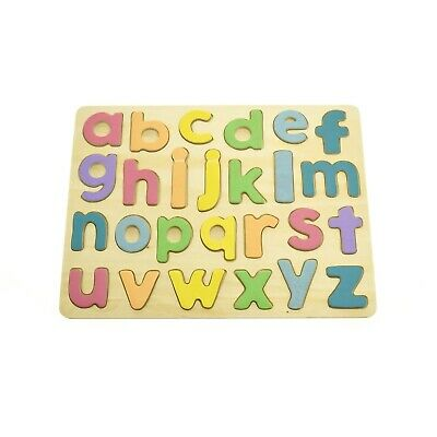 New Kaper Kidz Wooden Alphabet Lower Case abc Puzzle Educational Toys Free Post