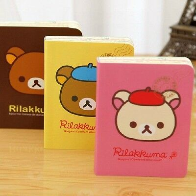 """Tiny Rilakkuma"" 1 pc Color Pages Mini Pocket Diary Study Notebook Cute Planner"