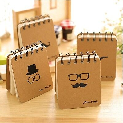 """Men Style"" 1 pc Mini Diary Pocket Notebook Cute Memo Coil Spiral Blank Freenote"
