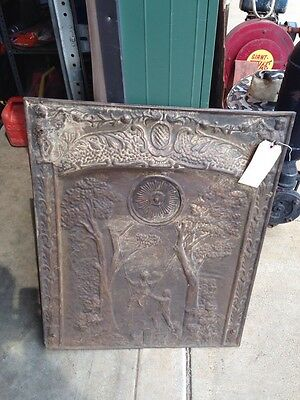 Sheet-Metal Antique Summer Cover Man And Woman Swinging Swinging From Trees Five
