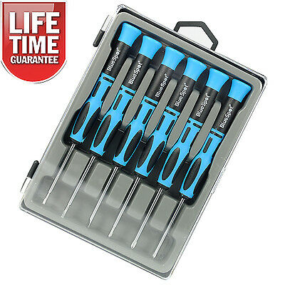 6Pc Precision Screwdriver Set Magnetic Tips Laptop PC Repair Phillips Slotted