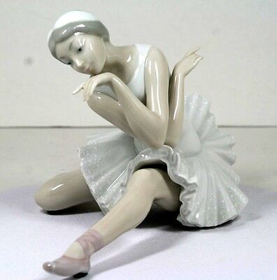 "Lladro ~ Ballet ""death Of A Swan""  #4855  ~  Retired   Mint ~ Vintage"