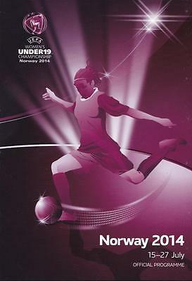 * 2014 UEFA UNDER 19's WOMENS CHAMPIONSHIPS FINAL (NORWAY 2014) *