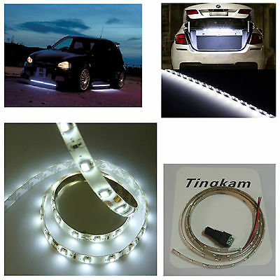 12V 1M 60LEDs 3528 SMD Waterproof Cool White LED Strips Bright For Taxi Bus Jeep