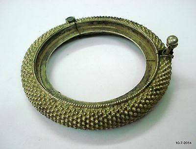 vintage antique ethnic tribal old silver bangle bracelet cuff handmade