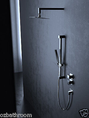 SQUARE bathroom 304 stainless steel shower set head ceiling wall arm hand held