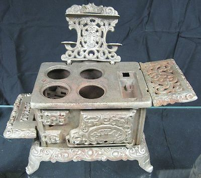 Vintage 1900's Antique Cast Iron Miniature Stove Royal