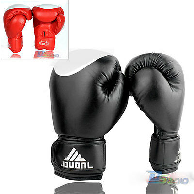 Thai Muay kick Boxing Gloves Sparring Training Mitten MMA/UFC Mitts Red/BLK 10oz