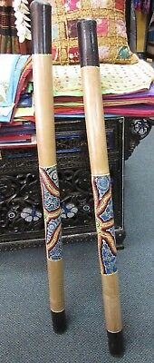 1 x 120 CM BAMBOO DIDGERIDOO ABORIGINAL STYLE DECORATIONS HAND CRAFTED
