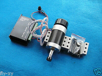 ER11 400w 12000RPM 48V Brushless Spindle Motor + PWM Speed Controller + Mount
