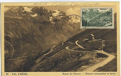 Carte-maximum France n° 358 - Route de l'Iseran (26157)