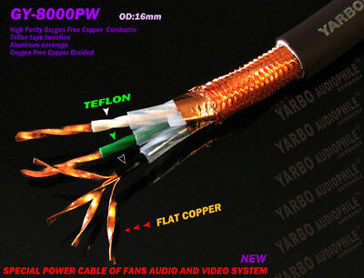 Yarbo Audiophile GY-8000PW  Cable Cord Per 1M ~ Germany Hi-End