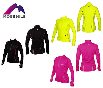 More Mile Vancouver Womens Ladies Thermal Reflective Hi Viz Running Cycling Top