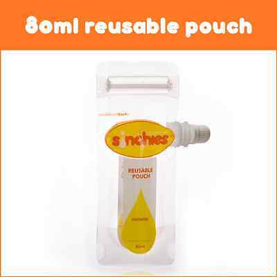 NEW Sinchies Reusable Baby Food Squeeze Pouches Refillable Infant 80ml 5 Pack