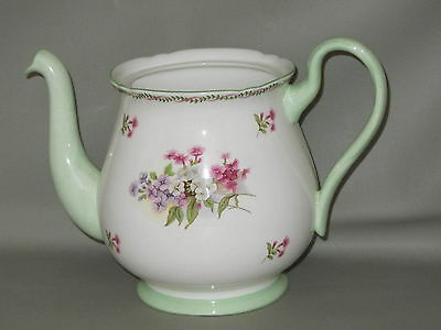 SHELLEY - #13512 Multicolor Floral Clusters - TEAPOT (Missing Lid) - B11B