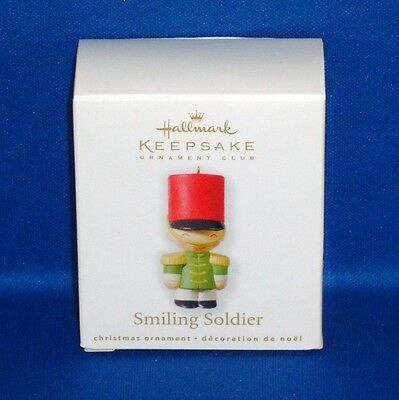 Hallmark - 2010 - Smiling Soldier - Miniature Keepsake Christmas Ornament - NEW