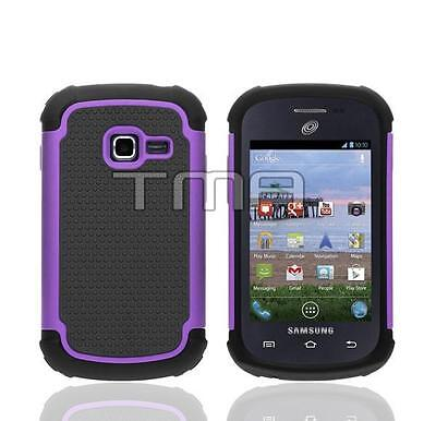 Impact Hybrid Shock Proof Case For Samsung Galaxy Discover SGH-S730M - Purple