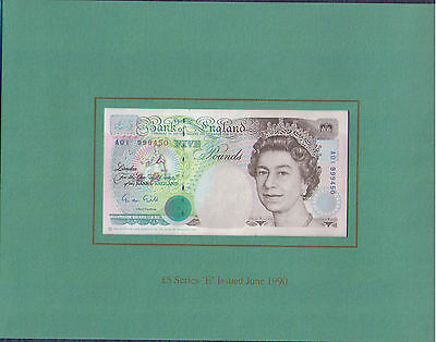 1990 £5 First and Last Banknote Folder - United Kingdom