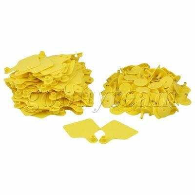 100 Sets Plastic Blank Large Livestock Ear Tag For Cow Cattle