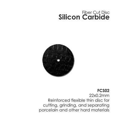 Fibre Cut Disc Silicon Carbide 22mm x 0.2mm Porcelain Zirconia Metals 20/Box