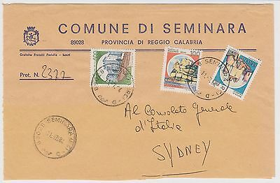 (Q8-44)1984 Italy 550l lettertoConsularGeneral Sydney(E