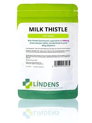 Milk Thistle Tablets standardised extract Lindens Pack 120