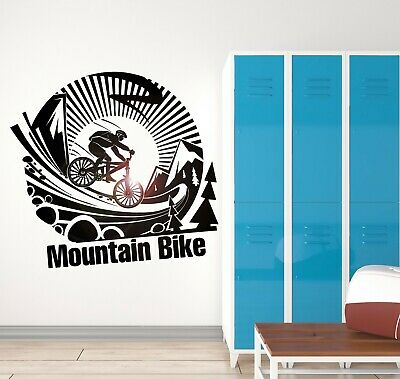 Vinyl Decal Mountain Bike Extreme Sports Cool Room Decor Wall Sticker (ig2041)