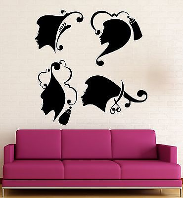 Wall Sticker Vinyl Decal Beauty Salon Spa Barbershop Hairdresser Hair (ig2044)