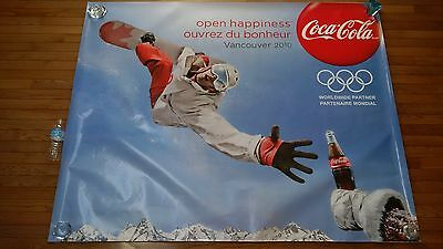 Gigantic 4.3'x5.4' Snowboarder Coca Cola Decal Sticker Vancouver 2010 Olympics
