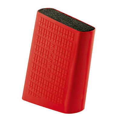 Scanpan Spectrum Soft Touch Uni Knife Block - Red