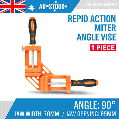 Double Corner Clamp 90 Degree Vice Mitre Right Angle Quick Release Frame Welding