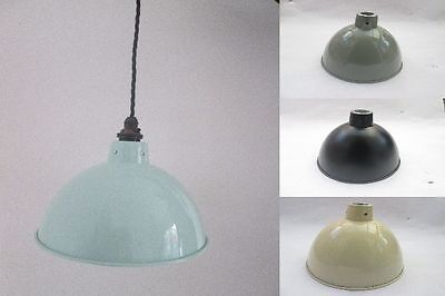 """8"""" Dome industrial factory Vintage Retro Old Style pendant light lamp shade OR F"""