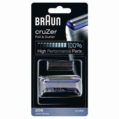 Braun 20S Cruzer 2000 Series Replacement Foil and Cutter Shaver Cassette Combi