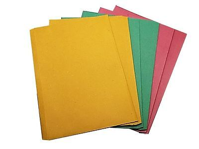6 Multiolour Cardboard Filing File A4 Document Wallets Envelope Folders Foolscap