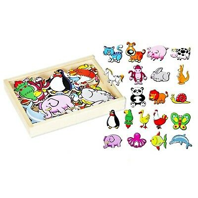 NEW Fun Factory Wooden Magnetic Animals Set 20pcs Educational Toy Free Postage